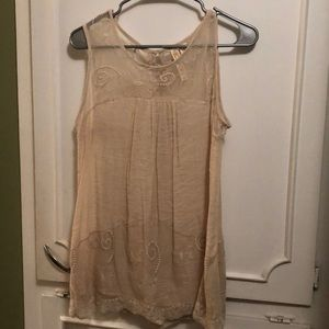 Cream sheer Lacey blouse